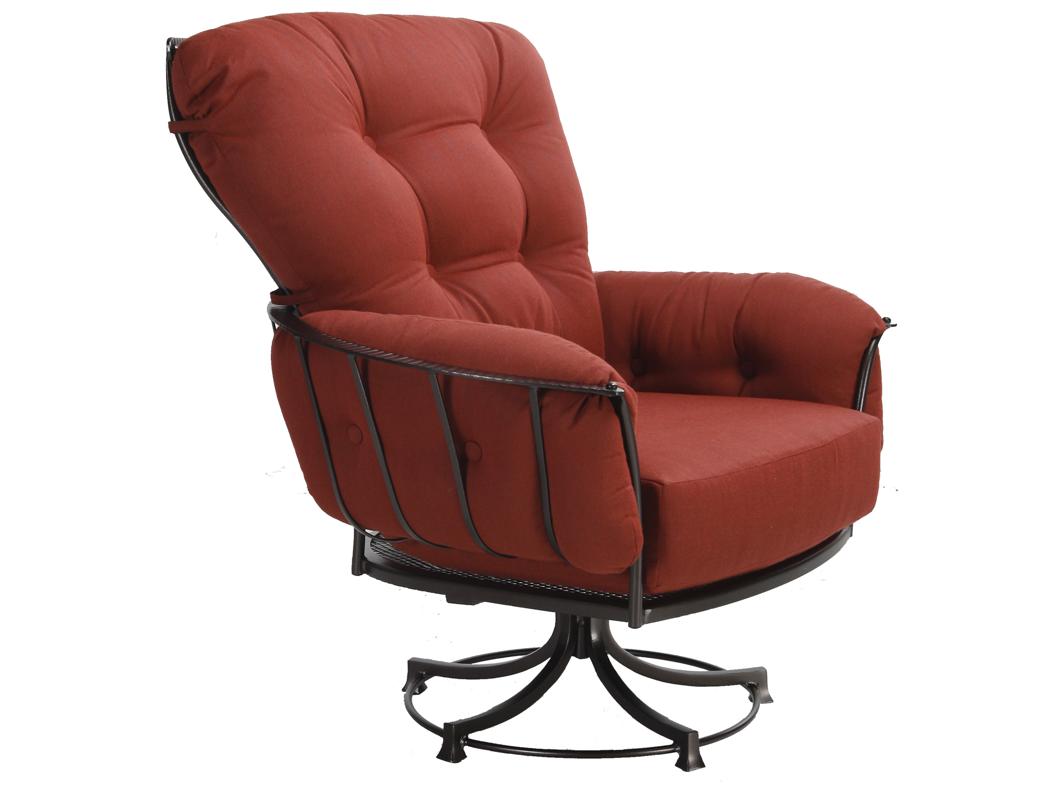 lounge chair covers spotlight ergonomic cost ow lee monterra wrought iron swivel rocker