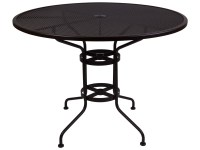OW Lee Micro Mesh Wrought Iron 48 Round Counter Table with ...