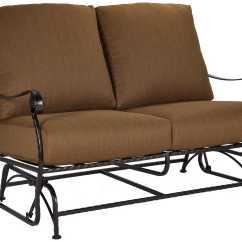 Metal Sofa Glider Cinnamon Ow Lee San Cristobal Wrought Iron Two Seat