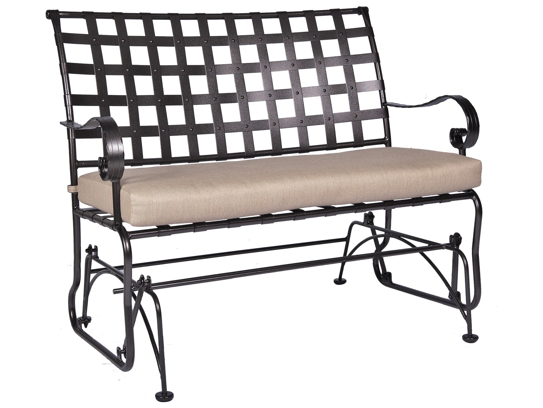 wide glider chair hon smartlink ow lee classico arms wrought iron sette ow9542gw