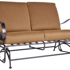 Wide Glider Chair Outdoor High Top Table And Chairs Ow Lee Classico Arms Wrought Iron Love Seat