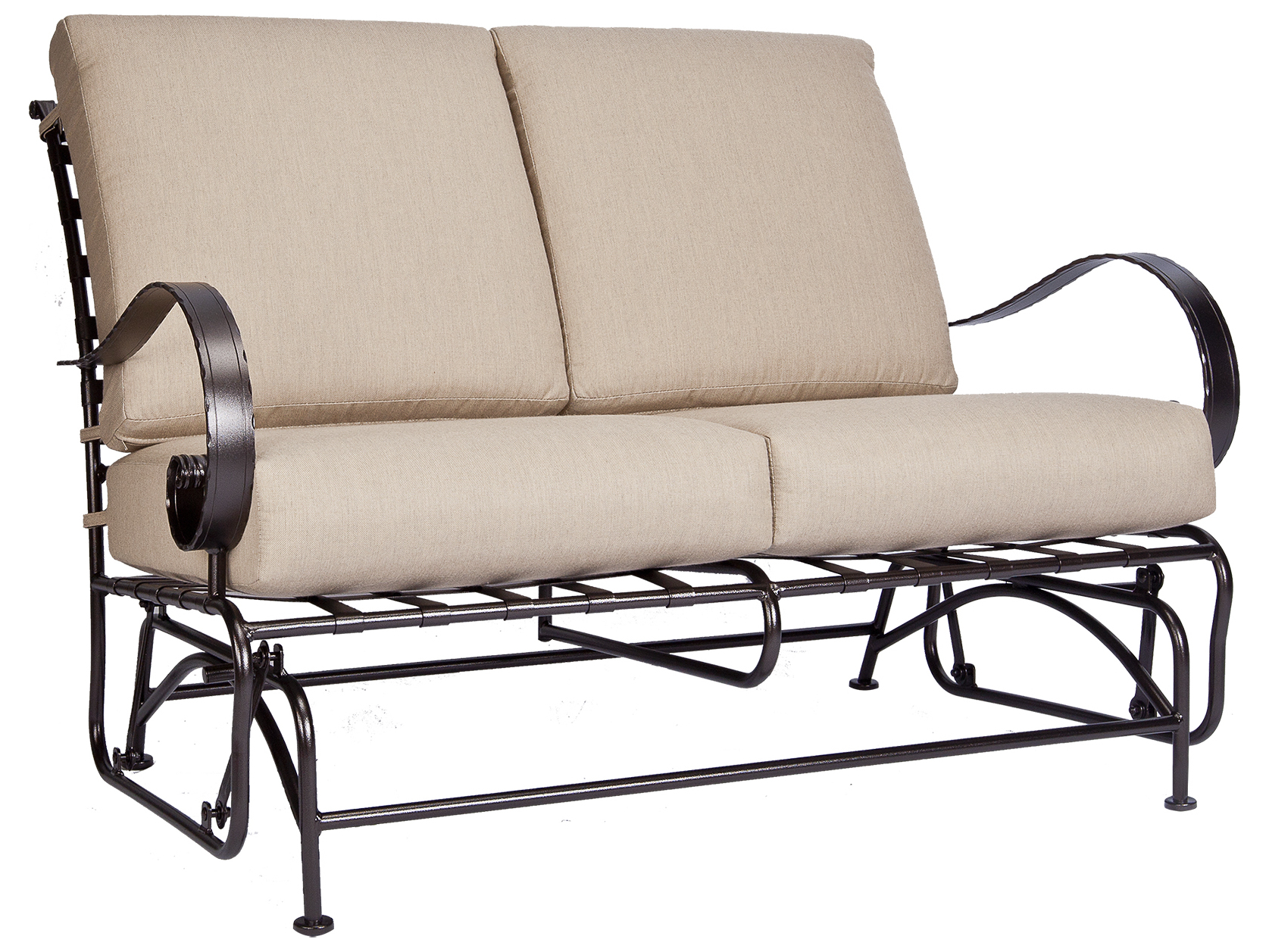 wide glider chair swing models ow lee classico arms wrought iron loveseat