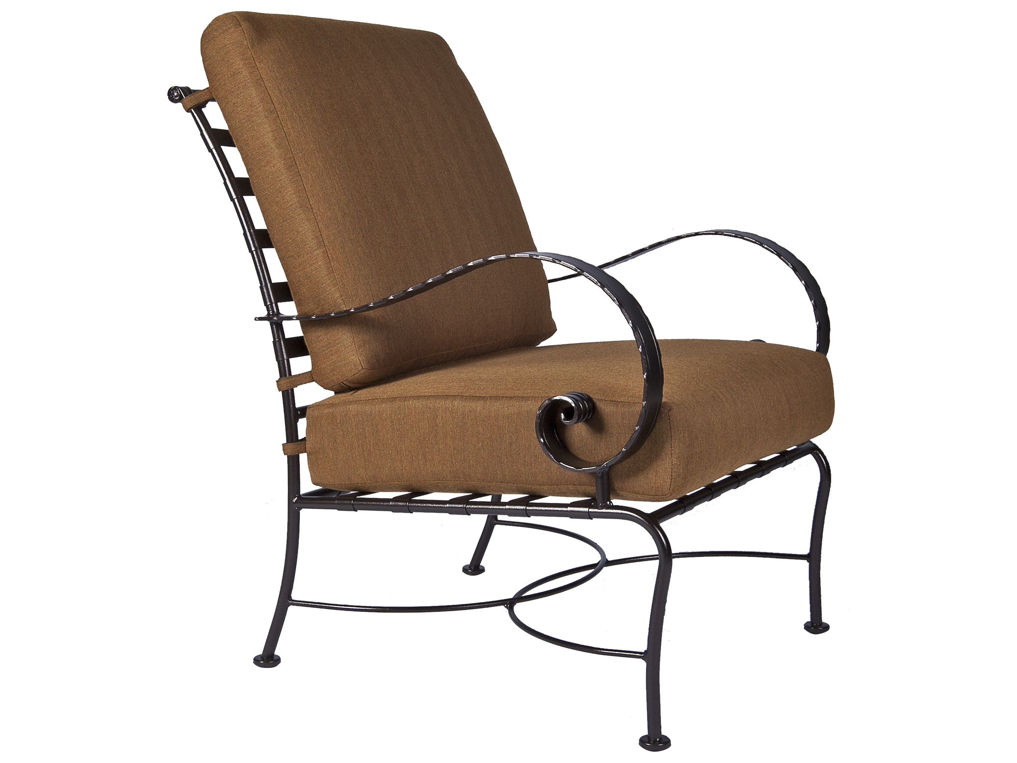 OW Lee Classico Wide Arms Wrought Iron Lounge Chair  956CCW