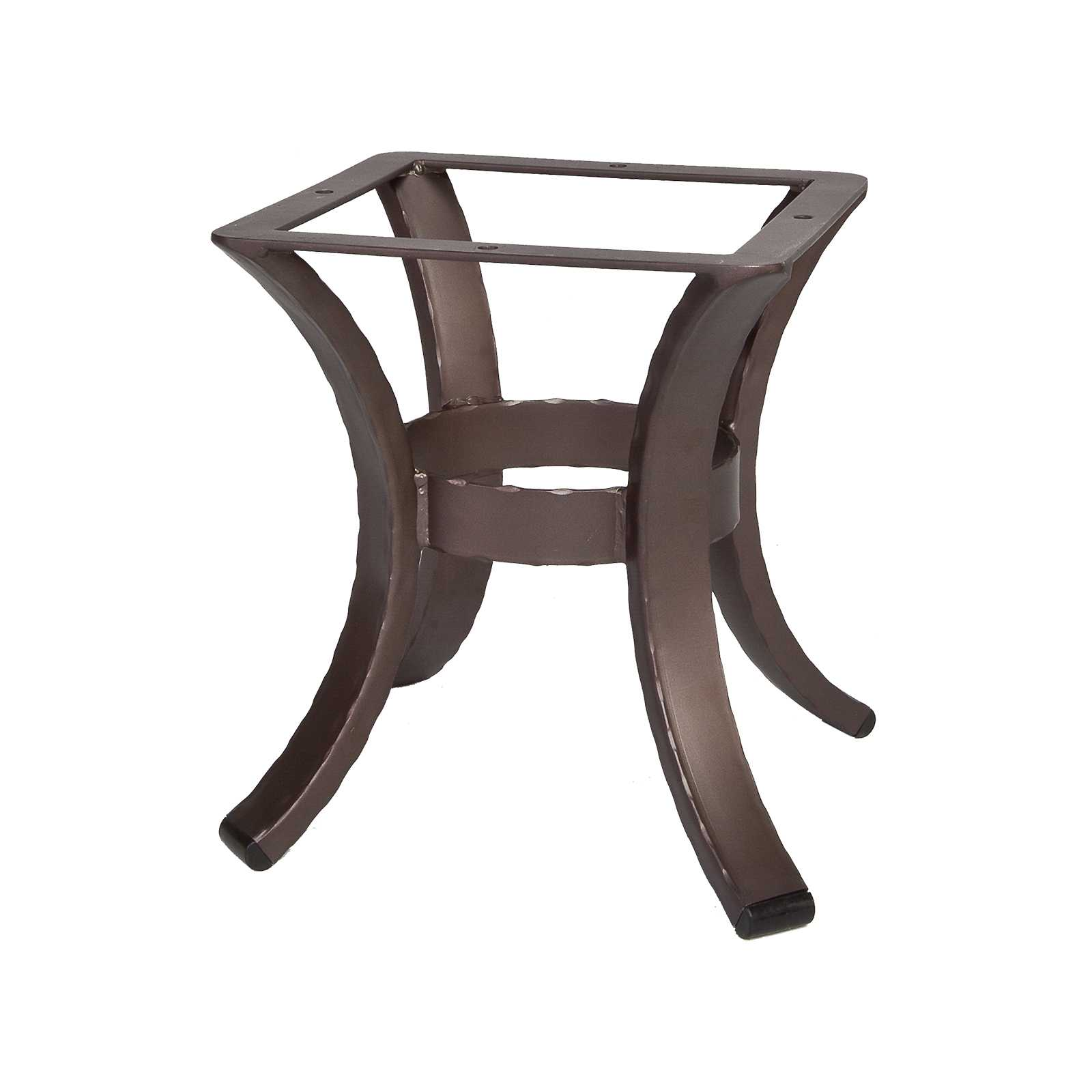 OW Lee Hammered Wrought Iron 01 Side Table Base