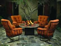 Ow Lee Monterra Wrought Iron Spring Base Club Chair 421-sb