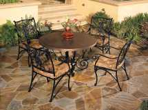 Ow Lee San Cristobal Wrought Iron Dining Table Base 6-dt03