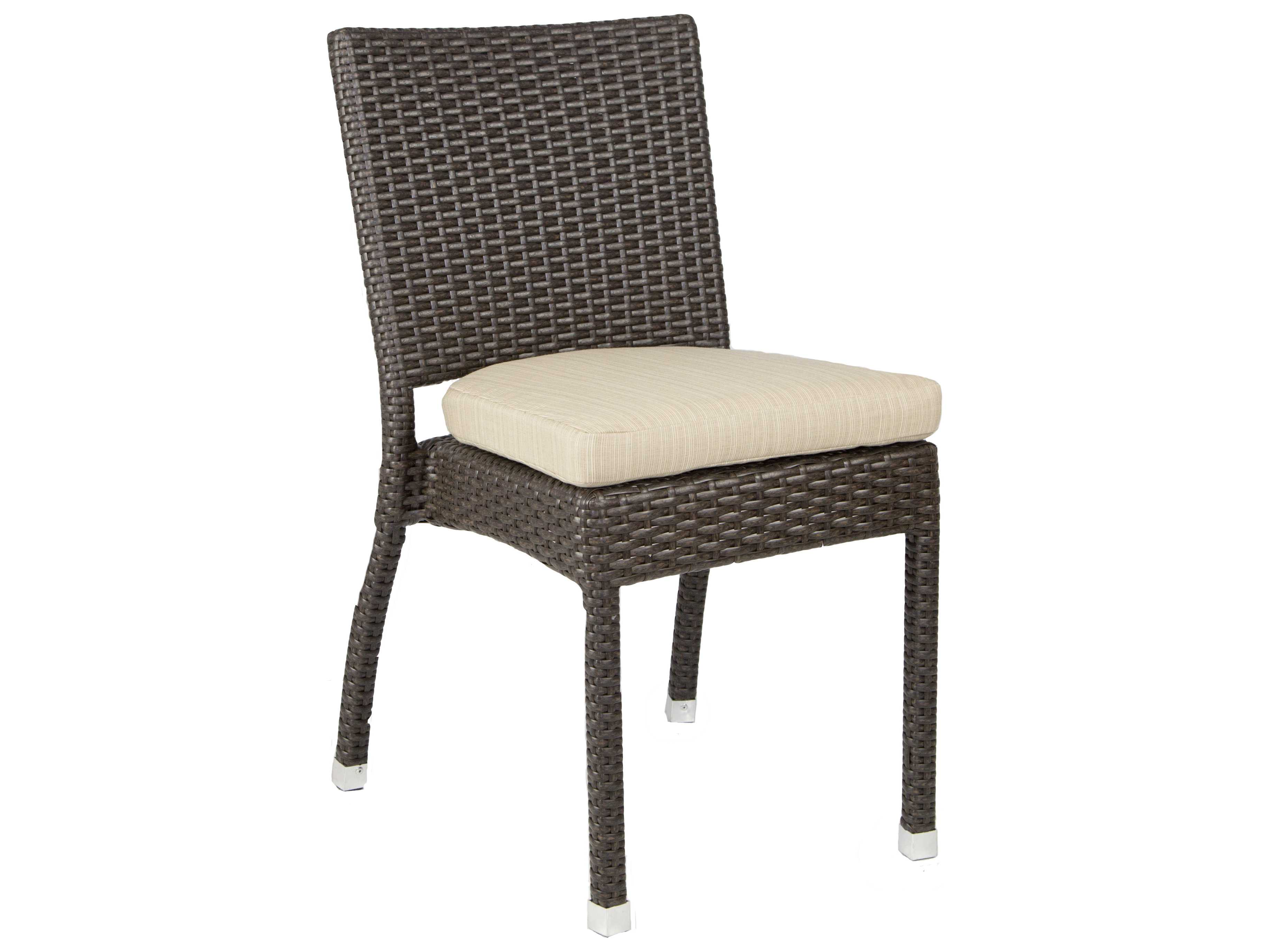 Wicker Side Chair Patio Heaven Venice Zuma Wicker Side Chair Paphzsc