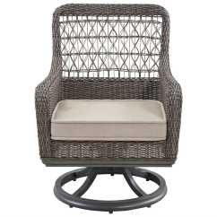 Wicker Swivel Outdoor Dining Chair Leather Reception Room Chairs Paula Deen Dogwood