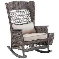 Wicker Rocking Chair Leather Metal Frame Paula Deen Outdoor Dogwood Rocker With Lumbar Pillow