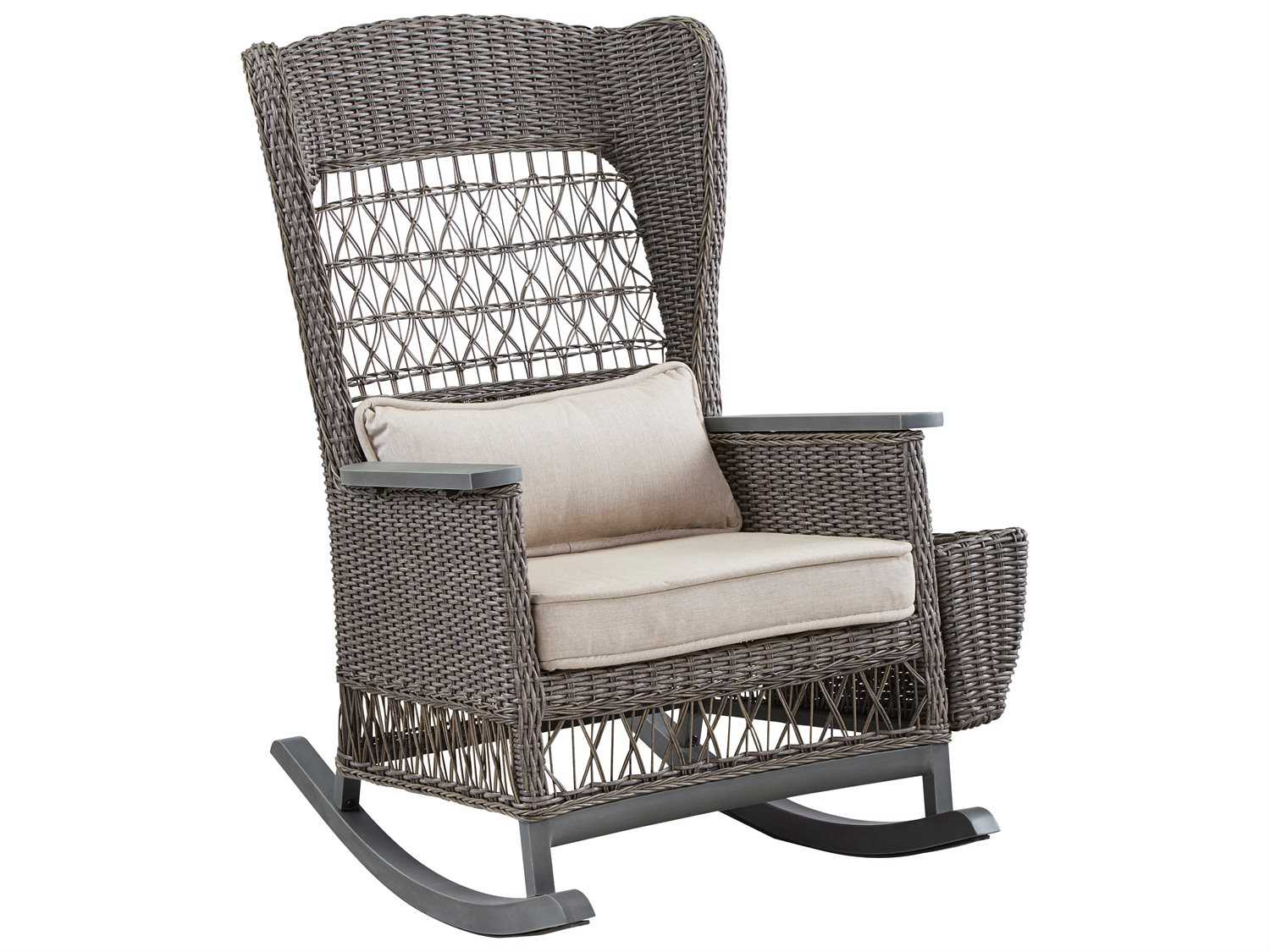 Wicker Rocker Chair Paula Deen Outdoor Dogwood Wicker Rocker Chair With Lumbar