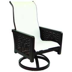 Swivel Chair In Spanish Vintage Folding Castelle Bay Sling Cast Aluminum Rocker 1967