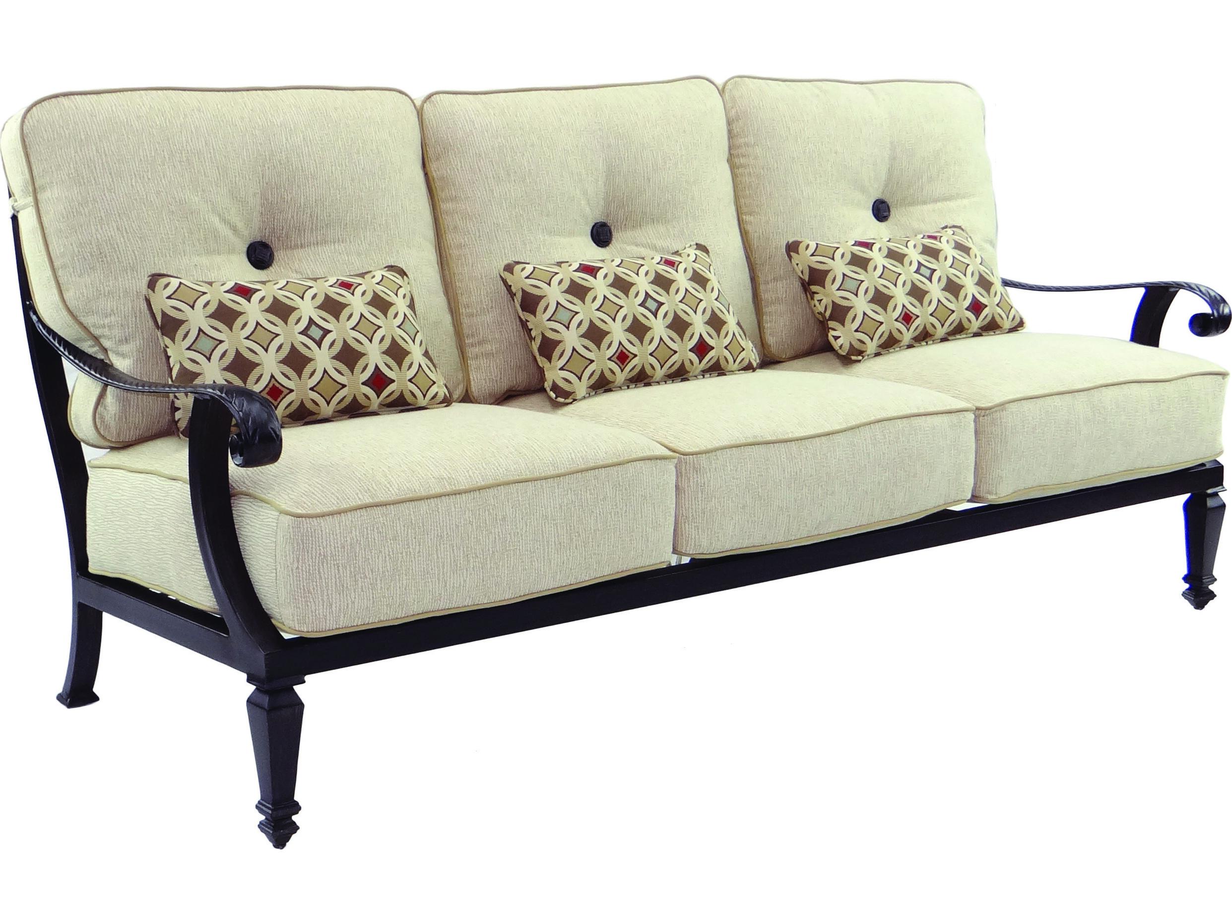 Castelle Bellagio Deep Seating Cast Aluminum Sofa With