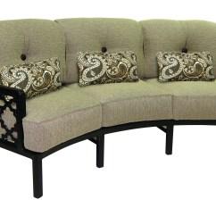 Conversational Sofa Cover Love For Bedroom Castelle Belle Epoque Deep Seating Cast Aluminum Crescent