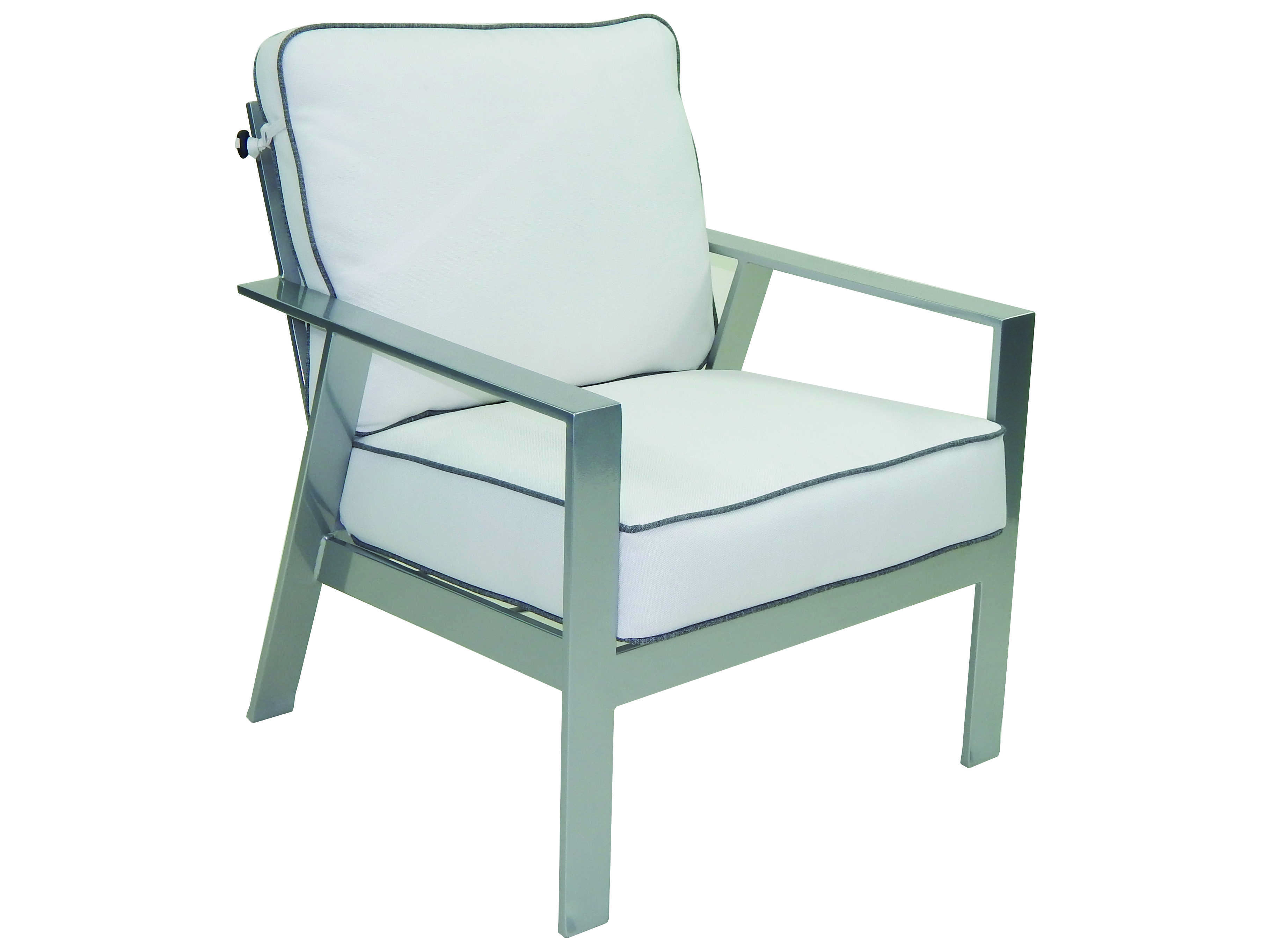 Deep Seating Patio Chairs Castelle Trento Deep Seating Cushion Cast Aluminum Lounge