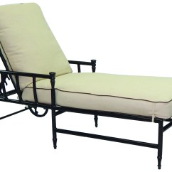 Metal Lounge Chair With Wheels Rental Of Covers And Sashes Castelle Provence Cushion Cast Aluminum Adjustable Chaise
