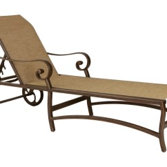 Metal Lounge Chair With Wheels Costco Chairs Outdoor Castelle Veracruz Sling Cast Aluminum Adjustable Chaise