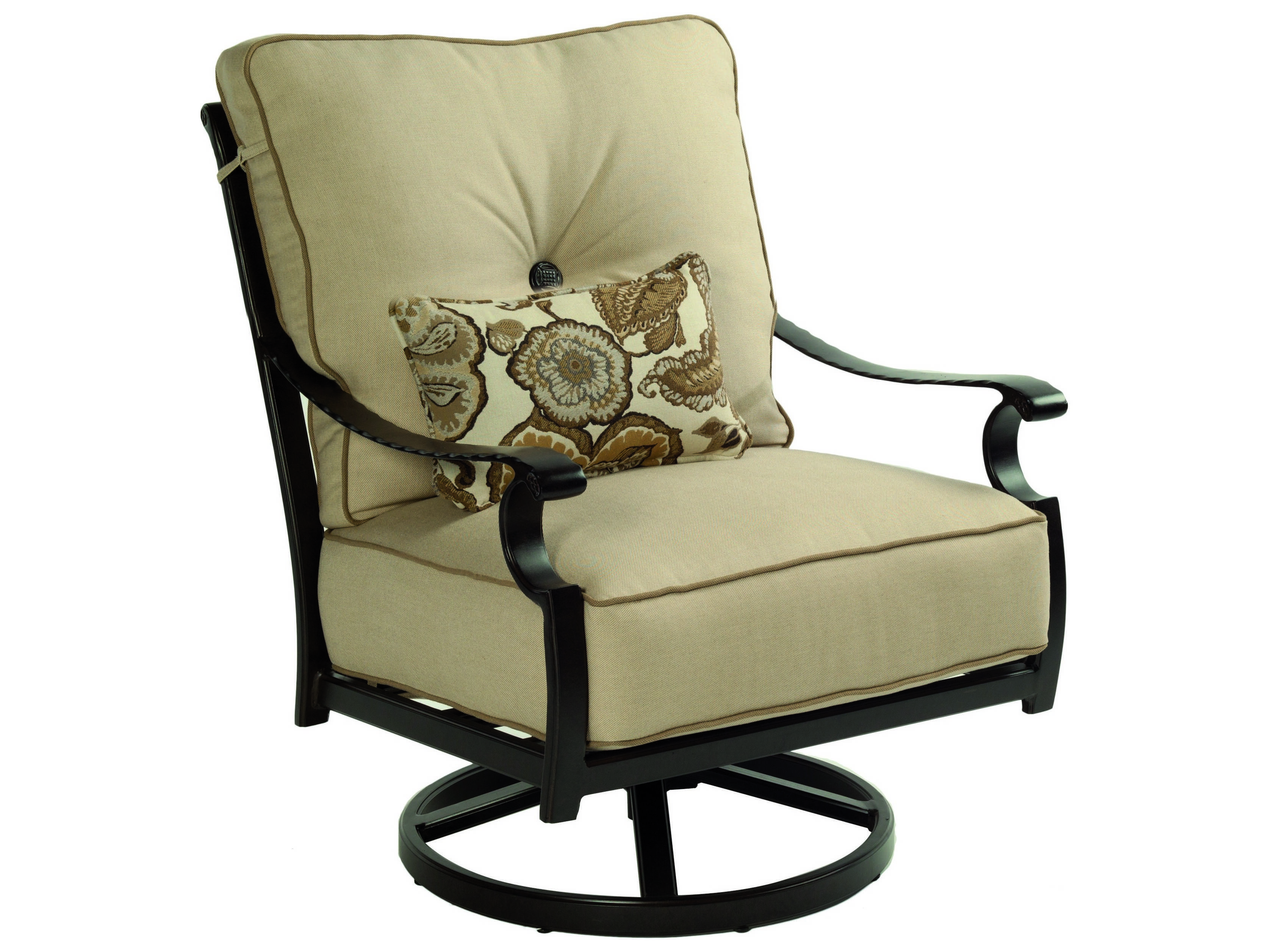 Deep Seating Patio Chairs Castelle Monterey Deep Seating Cast Aluminum High Back