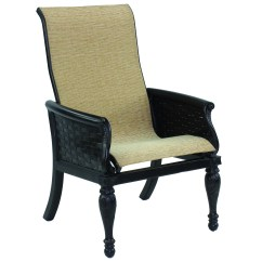 Outdoor Aluminum Chairs Swivel Chair Leather Castelle English Garden Sling Cast Dining