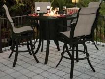 Castelle Classical Cast Aluminum 49 Bar Table With