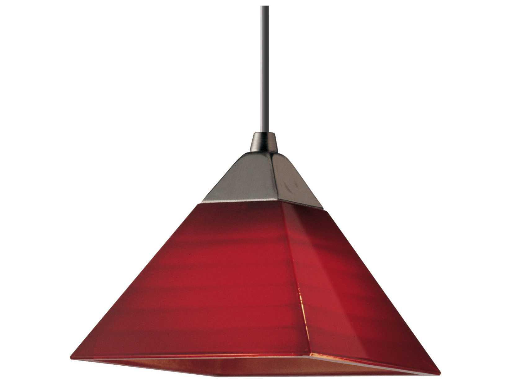Progress Lighting Illuma-Flex Brushed Nickel & Red Glass