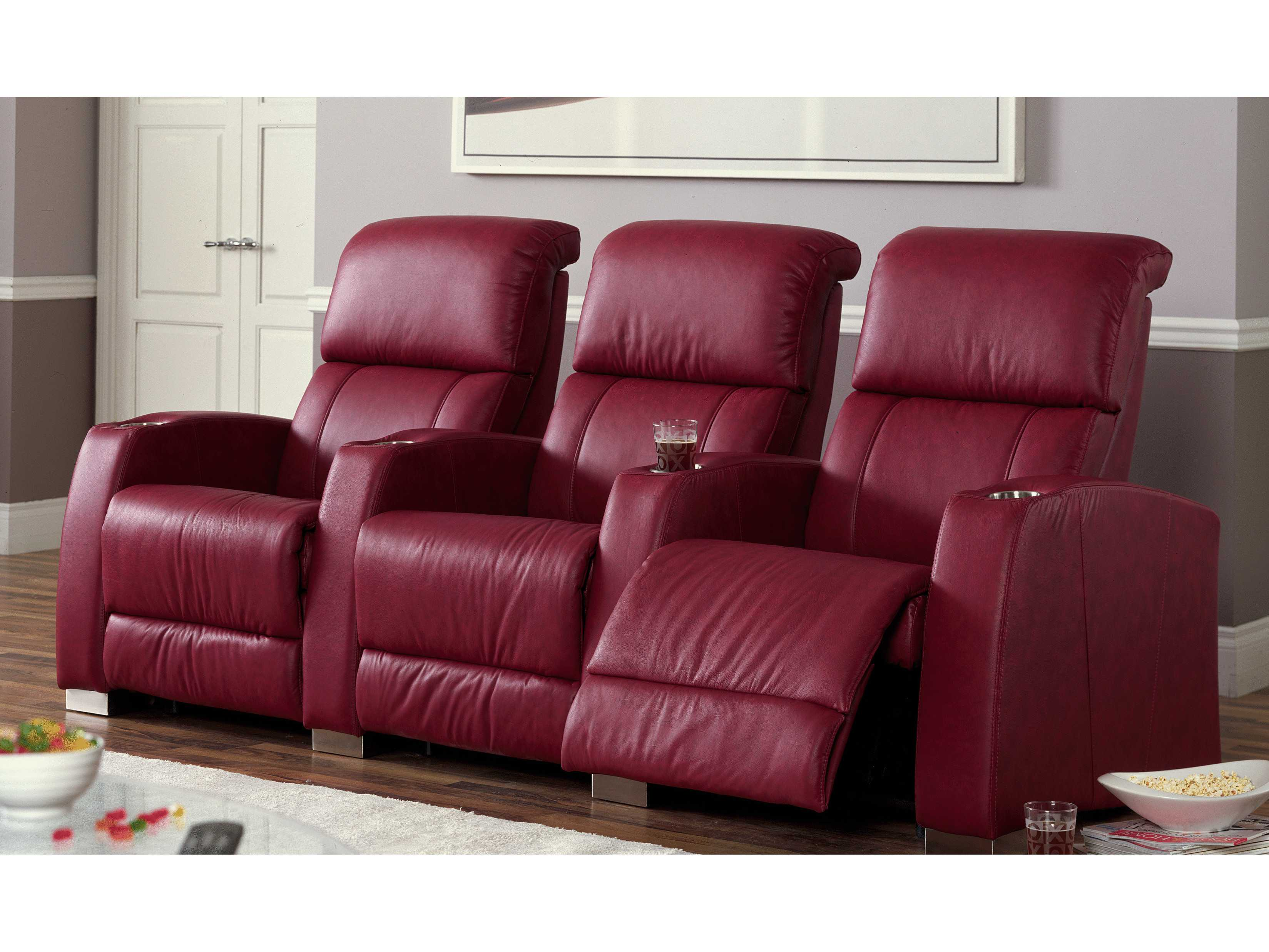 2 seat theater chairs bed bath and beyond armchair covers palliser hifi hts manual reclining home sectional