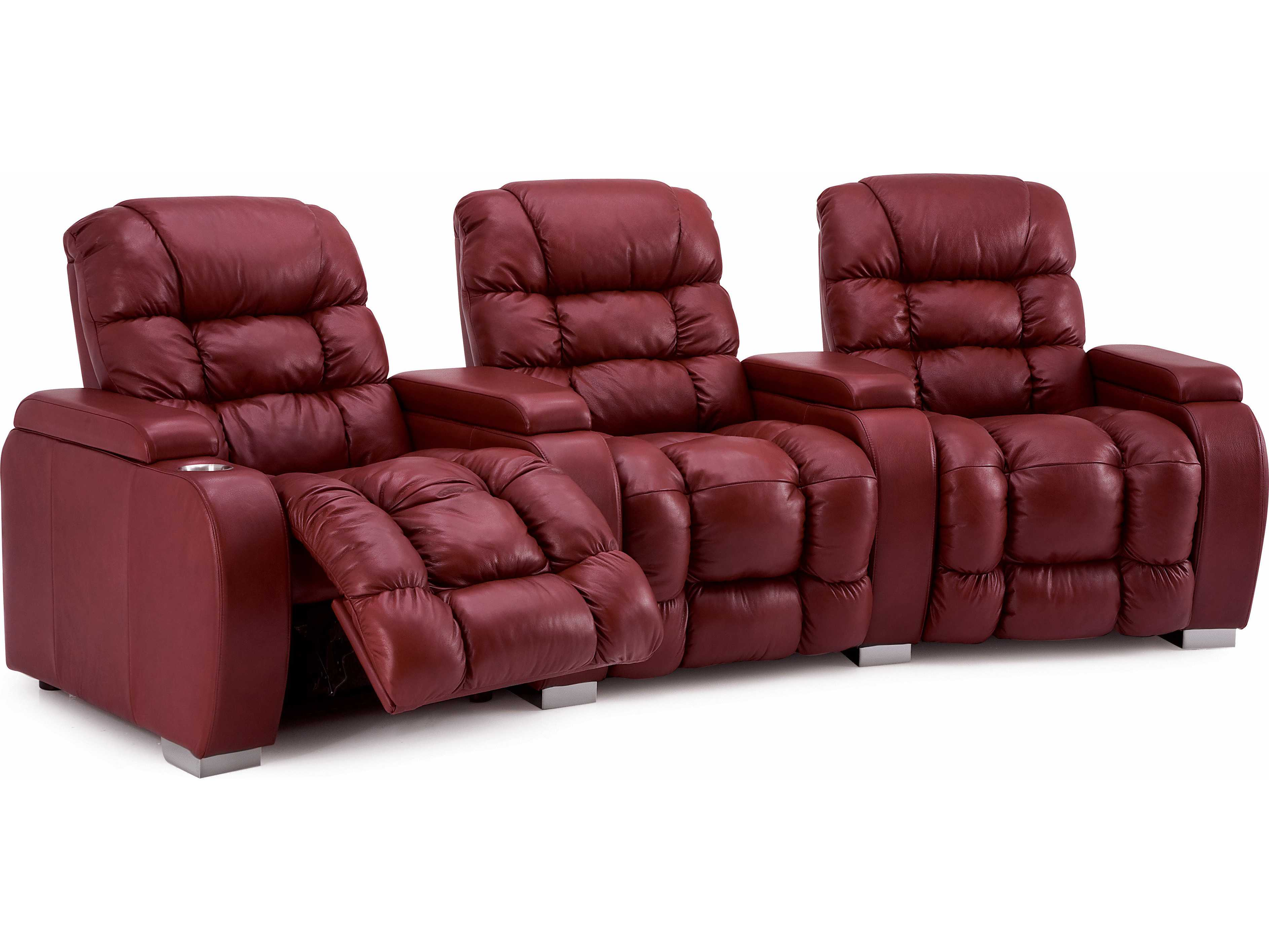 4 person reclining sofa large fabric corner sofas palliser linus hts powered home theater