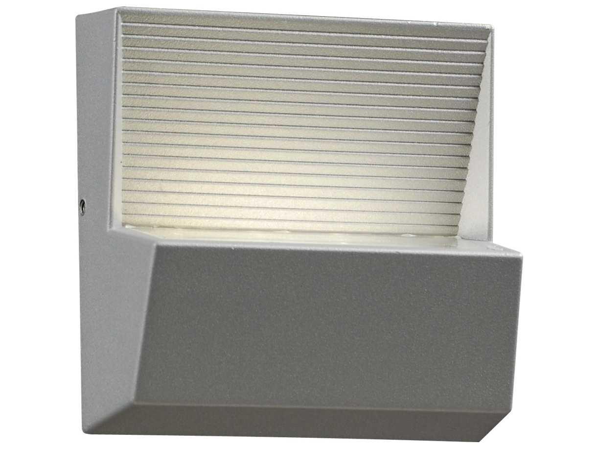 PLC Lighting Faro Silver Three-Light LED Outdoor Wall