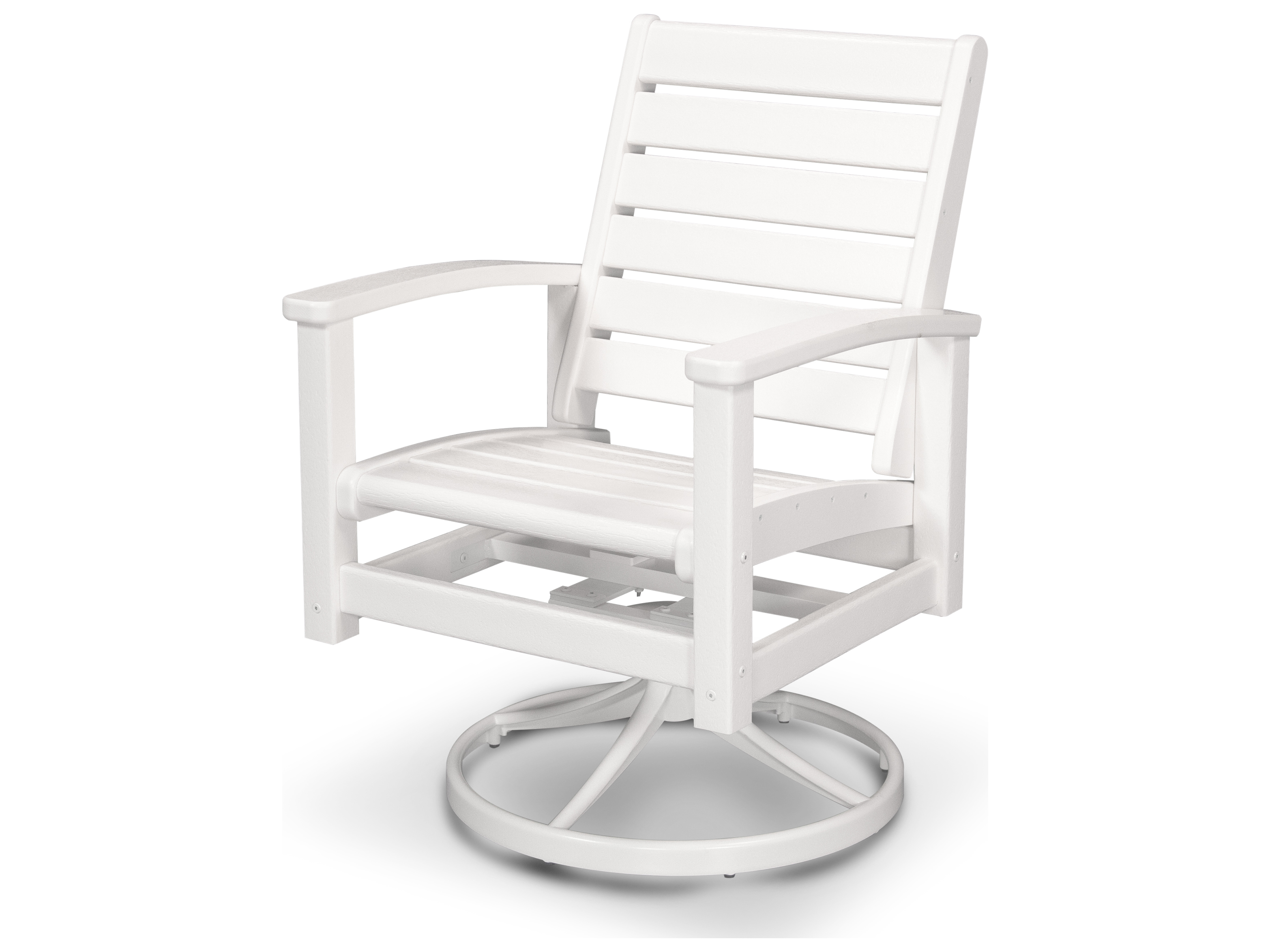 Polywood Rocking Chairs Polywood Signature Recycled Plastic Swivel Rocker Chair