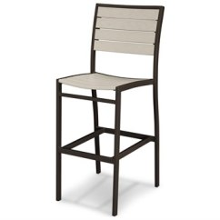 Outdoor Bar Chairs Skull Adirondack Chair Plans Stools Patio Patioliving Polywood Euro Recycled Plastic Side