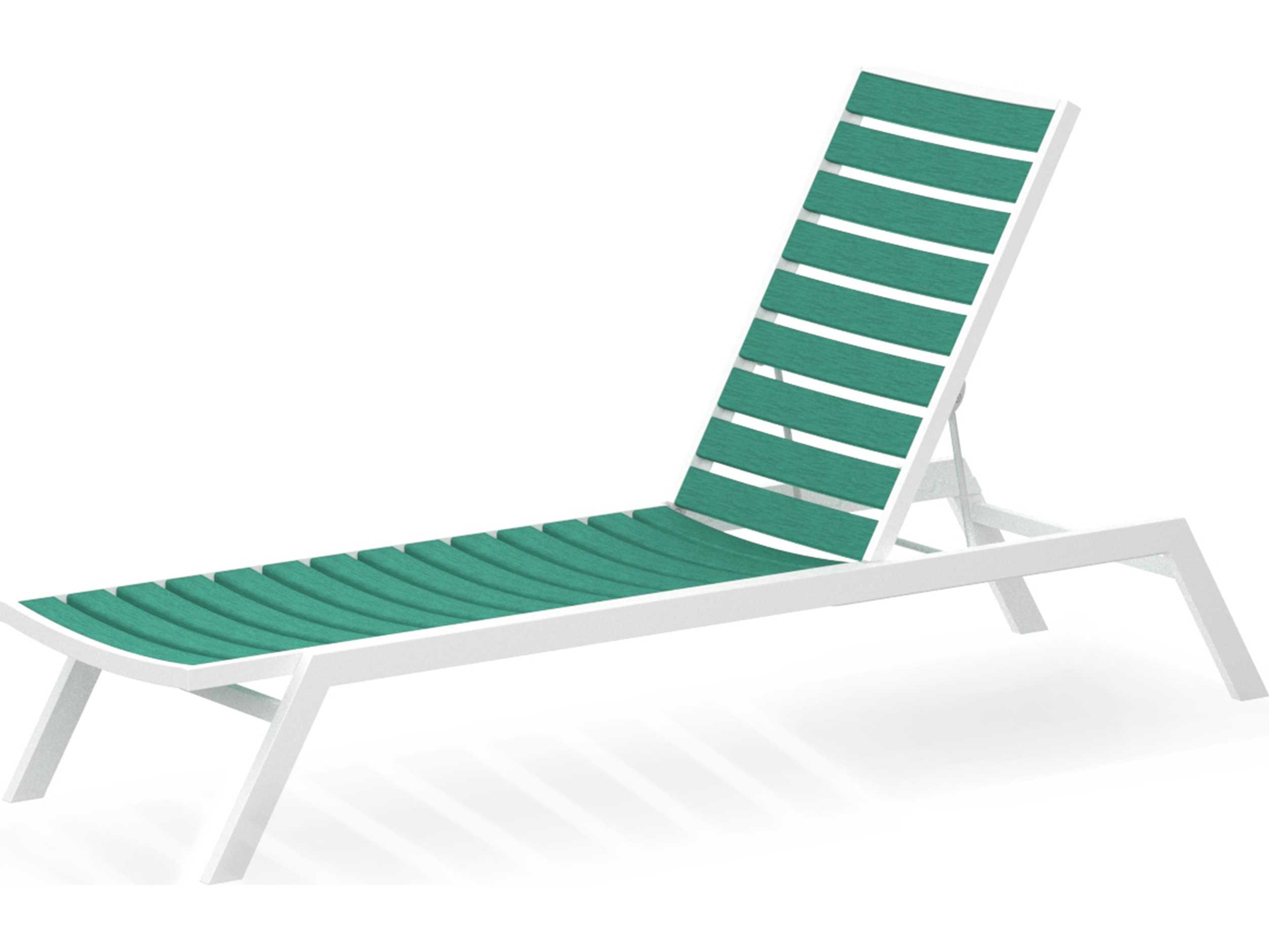POLYWOOD Euro Recycled Plastic Chaise Lounge Set  EUROCHSET