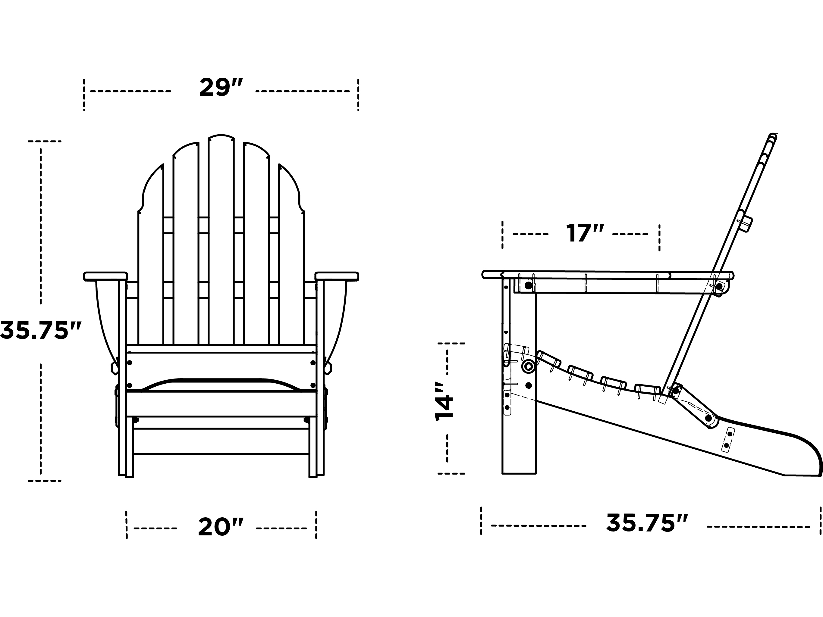 adirondack chairs recycled materials compact chair bed polywood classic plastic ad5030