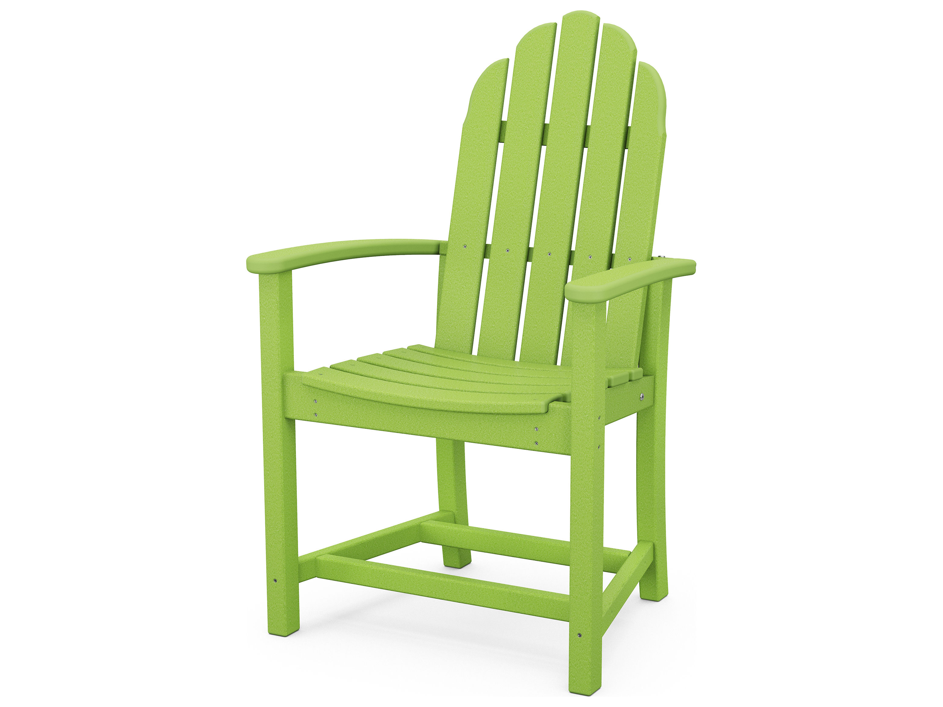 adirondack style dining chairs maternity rocking chair polywood classic recycled plastic