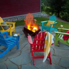 Adirondack Chairs Recycled Materials Desk Chair Cheap Polywood Classic Plastic Lounge Set