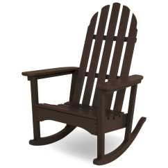 Polywood Classic Adirondack Chair Round Wicker Outdoor Recycled Plastic Rocker Adrc 1