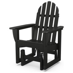 Adirondack Chairs Recycled Materials Striped Wingback Chair Slipcover Polywood Classic Plastic Glider