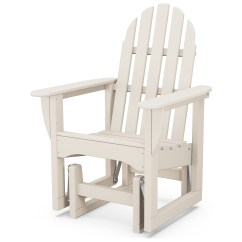 Adirondack Chairs Recycled Materials Wooden Baby High Chair Singapore Polywood Classic Plastic Glider