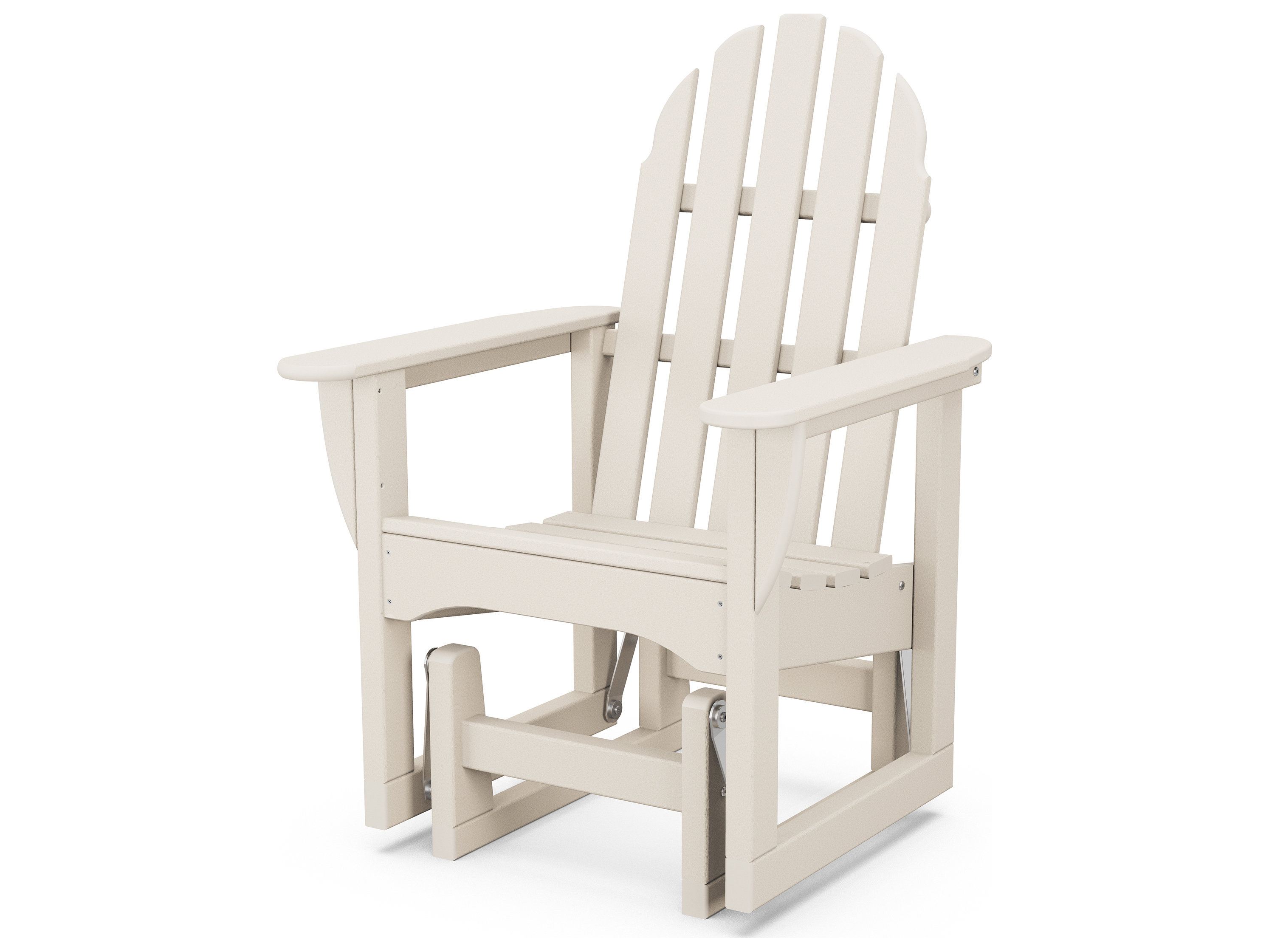 polywood classic adirondack chair fisher price table and chairs recycled plastic glider