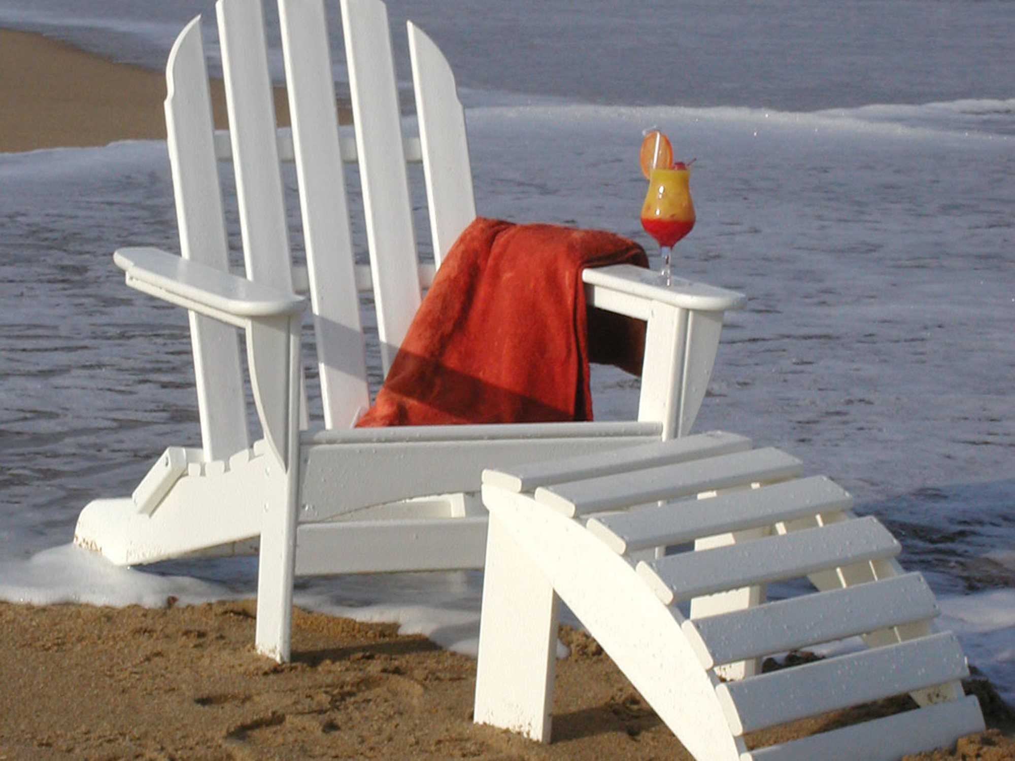 adirondack chairs recycled materials chair pillow for back pain polywood classic plastic lounge set
