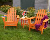 Polywood Classic Adirondack Recycled Plastic Lounge Set