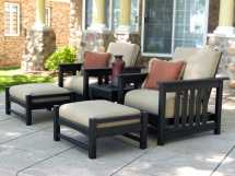 Polywood Mission Recycled Plastic Deep Seating Club