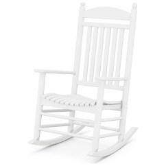 Polywood Rocking Chair Revolving Factory Rocker Recycled Plastic Arm Lounge J147