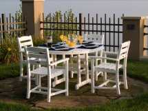 Polywood La Casa Cafe Recycled Plastic Dining Set