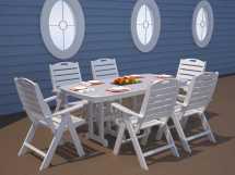 Polywood Nautical Recycled Plastic Dining Set Nautirpd