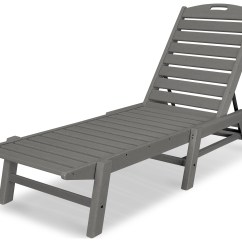Plastic Beach Chaise Lounge Chairs Elmo Table And Polywood Nautical Recycled Stackable