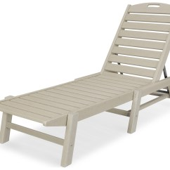 Webbed Chaise Lounge Chairs Reclining Chair With Ottoman Leather Polywood Nautical Recycled Plastic Stackable
