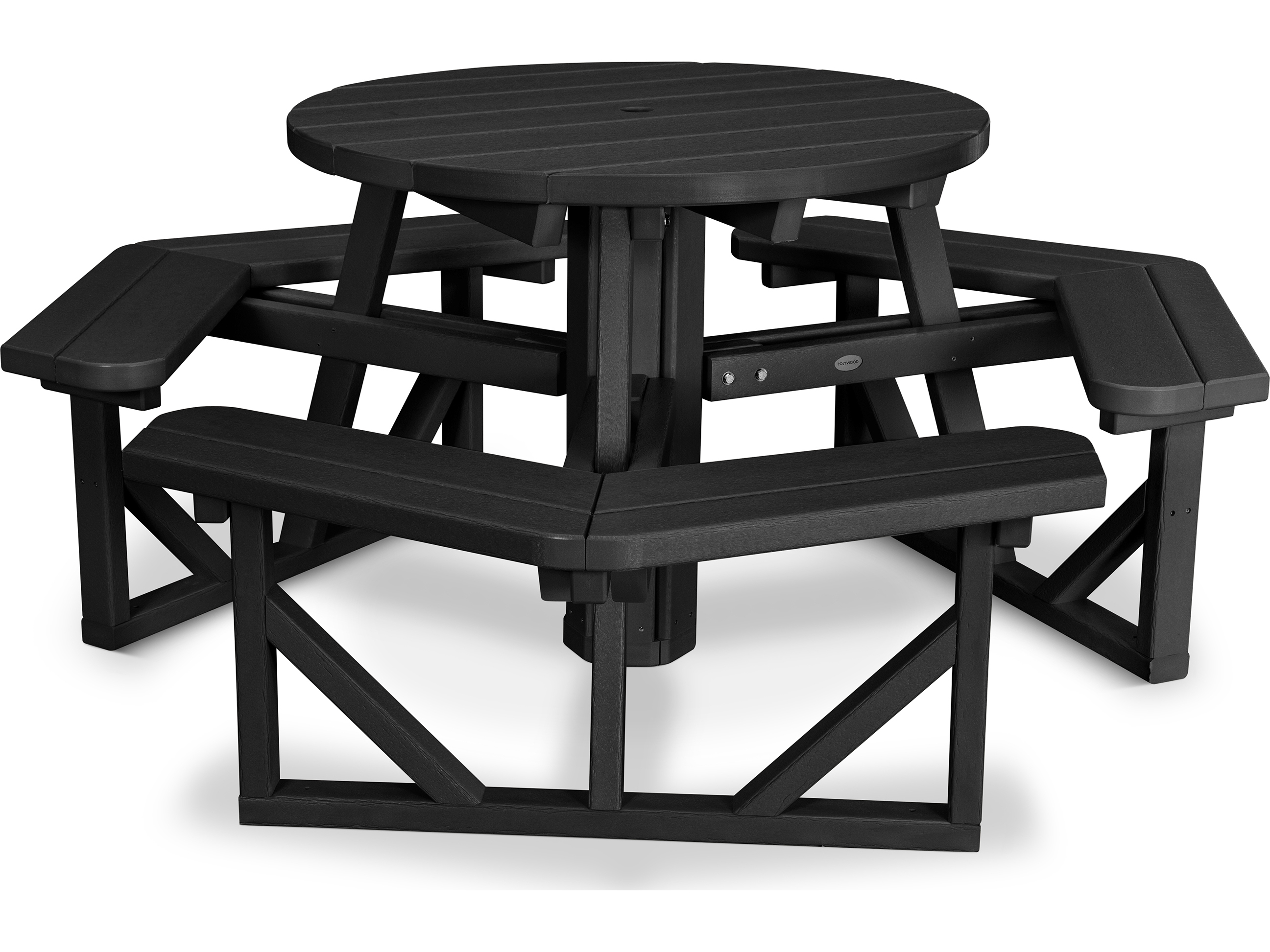 Hover Round Chairs Polywood Park Recycled Plastic 36 Round Picnic Table