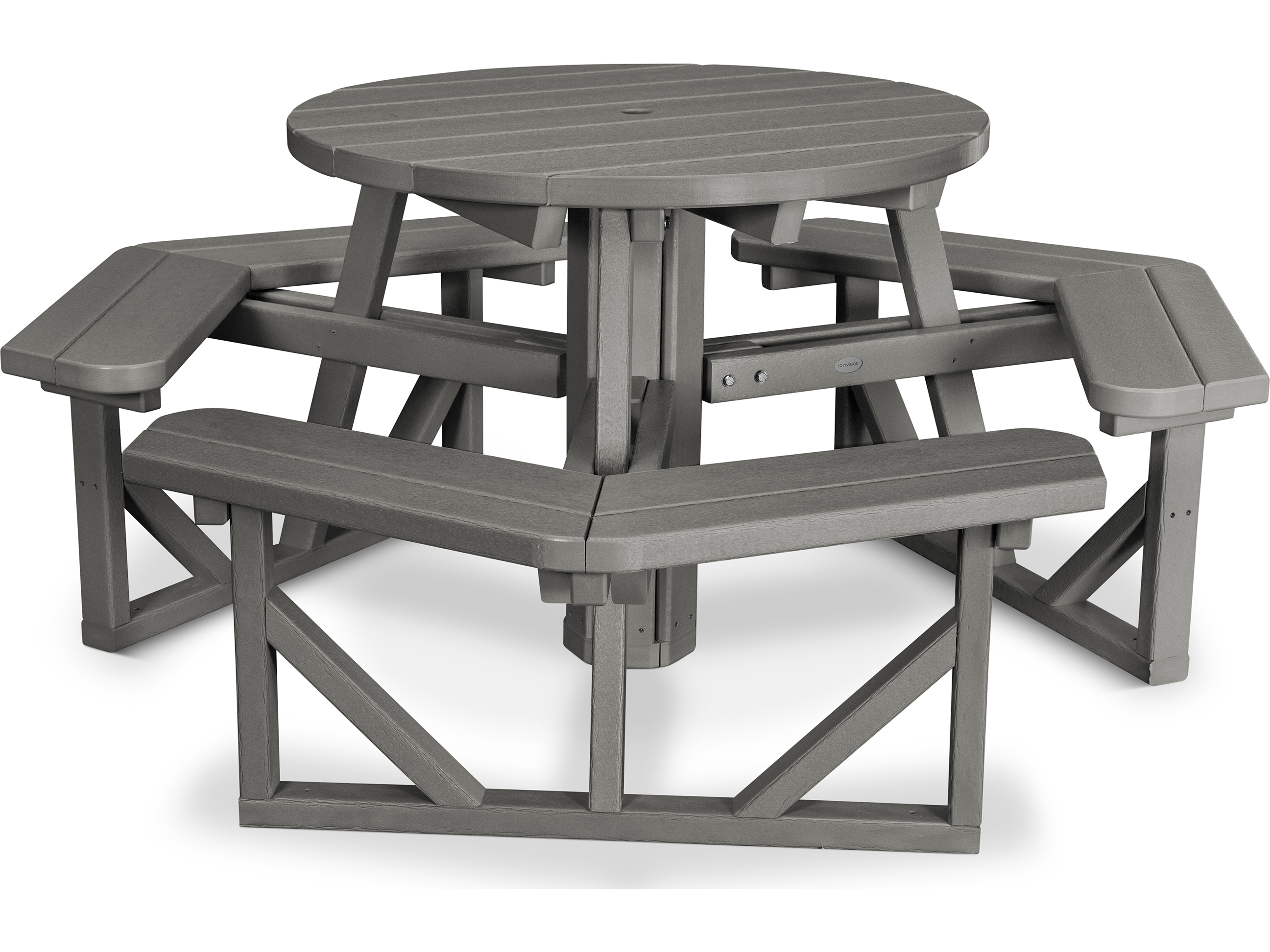 POLYWOOD Park Recycled Plastic 36 Round Picnic Table  PH36