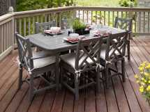 Polywood Chippendale Recycled Plastic Dining Set Pwpws1211