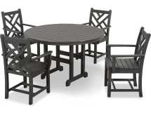 Polywood La Casa Cafe 48 Dining Table With Umbrella