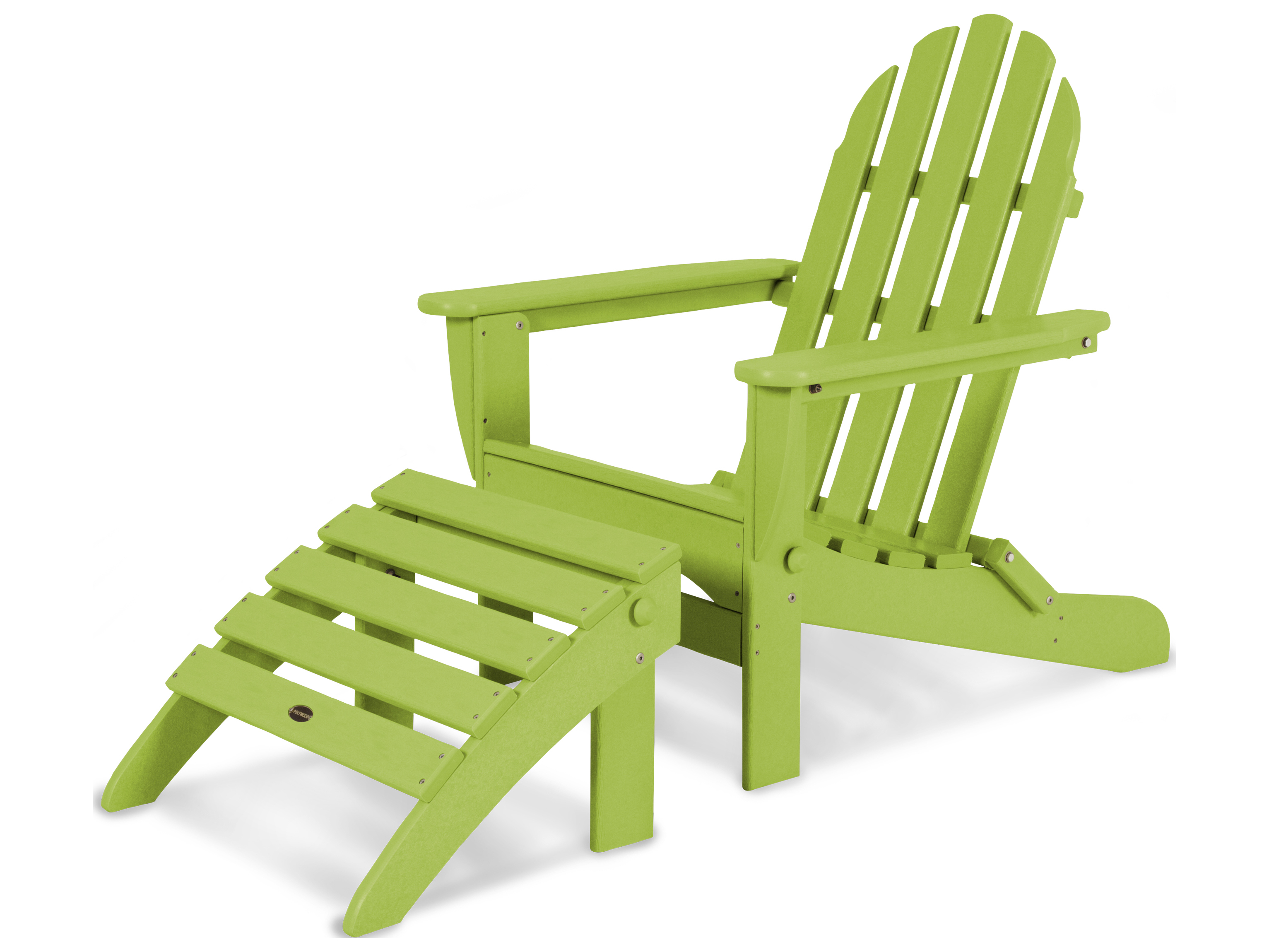 adirondack style plastic chairs uk folding table with stored inside polywood classic recycled 2 piece set